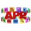 application app icons 3d concept