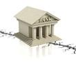 bank crisis 3d concept