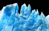 Blue icebergs isolated on black