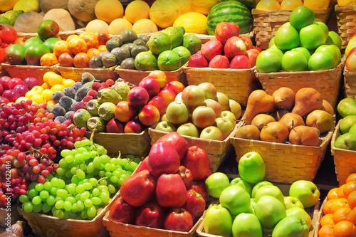 Fotobehang Vruchten Fruit market