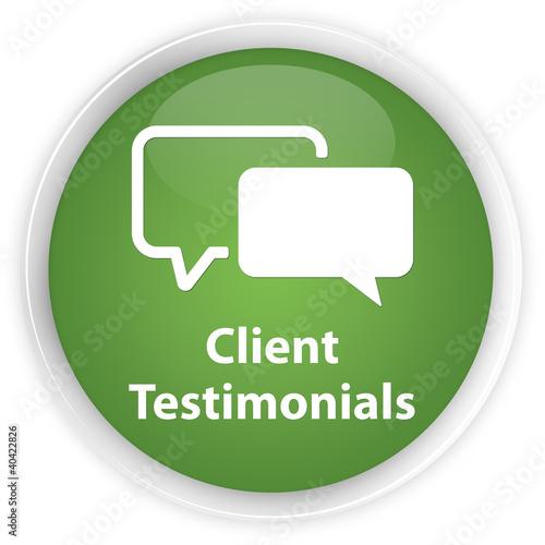 Client Testimonials green button