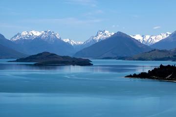 Bergmassiv und See Lake Wakatipu