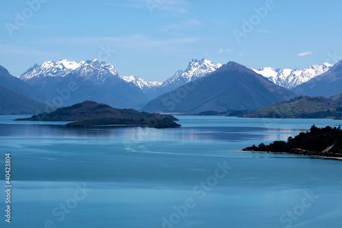 Poster Bergmassiv und See Lake Wakatipu