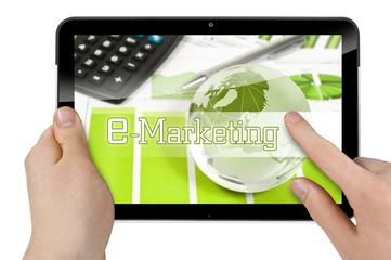 Tablet mit E-Marketing