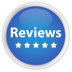 """Reviews"" blue button"