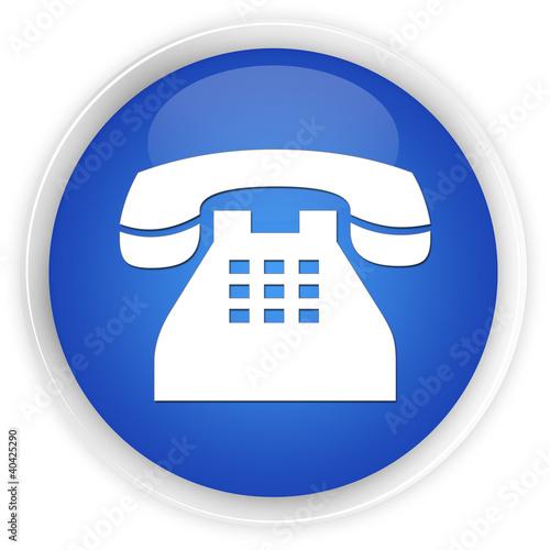 Telephone blue button