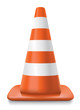 striped traffic cone
