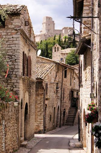 Fototapeta Ulica średniowieczny włoski