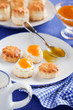 Scones with peach jam