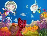 Children diving