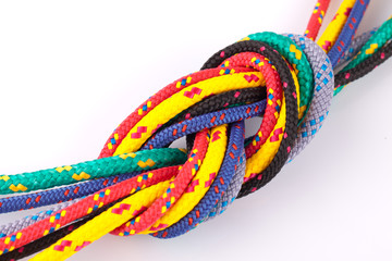 colorful rope knot