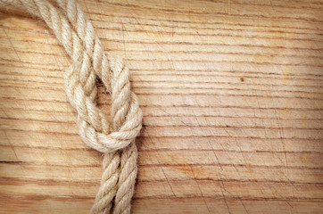rope on wood