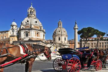 Roma, Colonna Traiana e chiese SS Nome di Maria  e Loreto