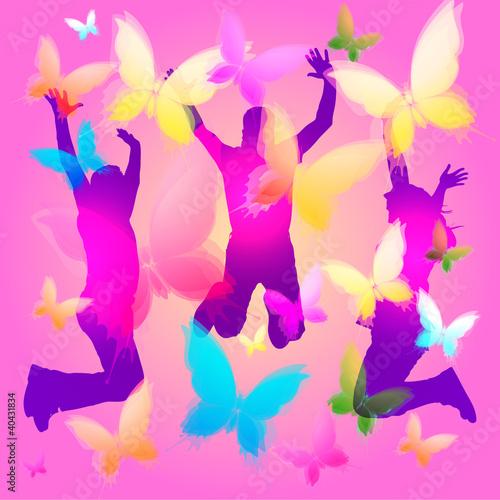 Primavera persone felici