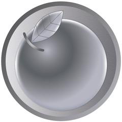 りんごマーク(銀)