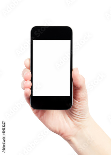 Mobile Smart Phone With Blank Screen Isolated