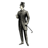 Fototapety Homme du 19ème siècle