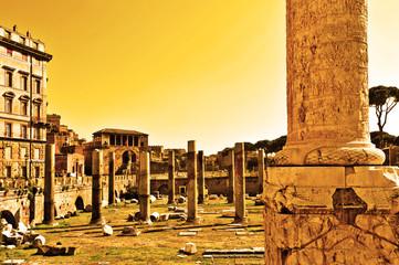 Roma, Colonna Traiana e foro di Traiano