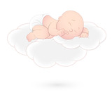 Baby Sleeping on Cloud
