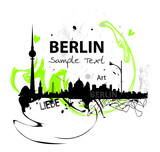 Fototapety Berlin skyline abstract