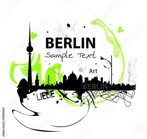Berlin skyline abstract