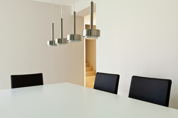 beautiful interior modern house, dining table