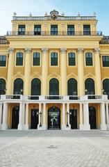 Ingresso del castello di Schönbrunn a Viennao