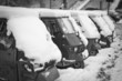 Постер, плакат: Ape Piaggio parked in the snow