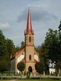 Lutheran church (Ogre, Latvia) poster
