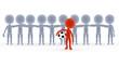 Football, soccer team leader with ball