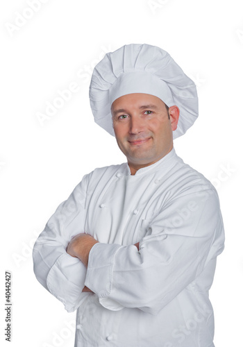 cook isolated on white background