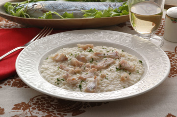 Risotto alla trota Rice with trout 鳟鱼烩饭