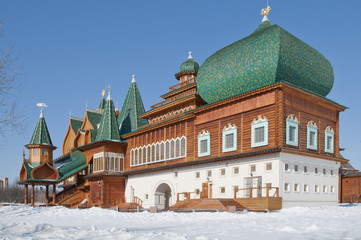 Wooden palace in Kolomenskoe. Moscow, Russia