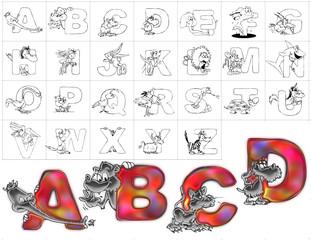 abc alphabet background zoo design abcd