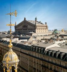 Opera de Paris vue des toits - France
