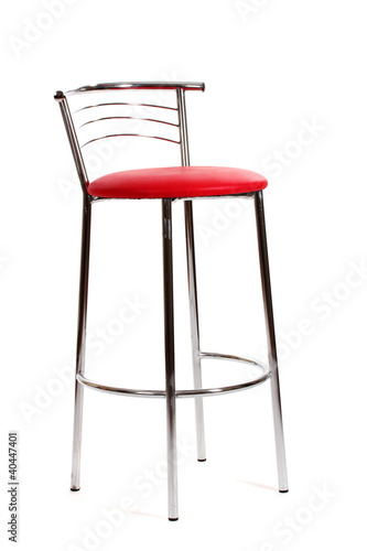 Red Bar Chair Isolated On White By Africa Studio Royalty Free Stock Photos