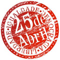Carimbo - 25 de Abril, dia da liberdade