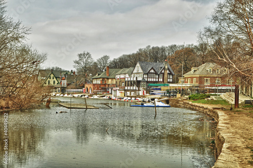 boat houses along the Schuylkill river