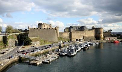 chateau, fortification, brest,finistère, bretagne