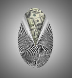 Finger Print reveals currency underneath