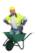 Workman in a wheelbarrow