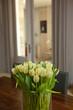 Tulipes, bouquet, maison, intérieur, décoration, salon