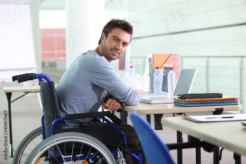 Businessman in a wheelchair