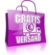 Serie Einkaufstasche GRATIS VERSAND, violett