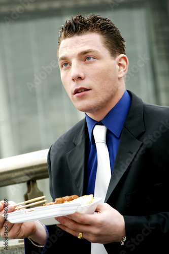 A man having his lunch.