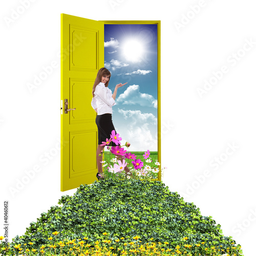 Open door leading to summer