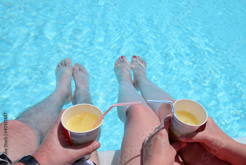 All inclusive drinks holding by couple