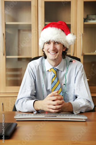 Businessman in christmas mood.