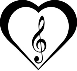Clef in hearts