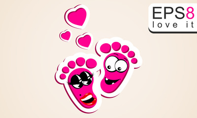 love is a children's footprints.